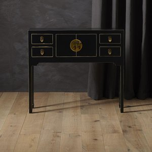 Baumhaus 40512 - The Nine Schools Qing Black And Gilt Small Console Table Bhs Pcb02d Tables