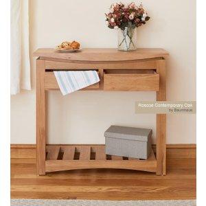 Baumhaus (cresht) Roscoe Contemporary Oak Console Table Bhs Cns02a Tables