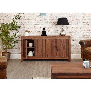 Baumhaus Mayan Walnut Large Low Sideboard Bhs Cwc02b