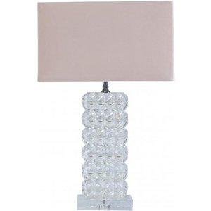 Cimc Medium 49.5cm Rectangle Crystal Table Lamp With Pink Velvet Shade Eu Gs230 M0 Vel Pk