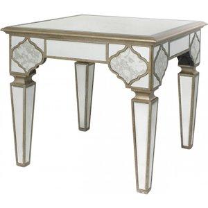 Cimc Direct Sahara Marrakech Moroccan Gold Mirrored Square End Table Mrf148 00 Mr
