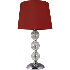 Cimc Clear Cracked Glass Red 3 Ball Table Lamp Bt475 00 Drm Rd