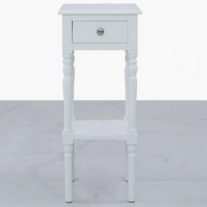 Cimc Darby 1 Drawer Telephone Table White - Ball Handle Wf249 00 Wh