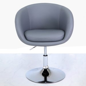 Cimc Grey Faux Leather Swivel Chair Fn115 00 Gy