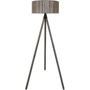Cimc Grey Hollywood Floor Lamp With Round Grey Wooden Shade Eu Bt592 00 Bar Gy