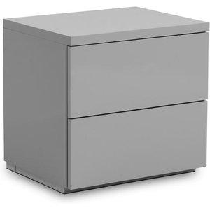 Julian Bowen Monaco Grey 2 Drawer Bedside Cabinet Mon701