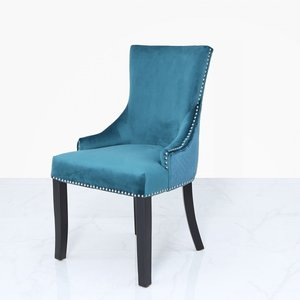 Cimc Marine Green Velvet Dining Chair With Ring Diamond Back Fn104 00 Ma