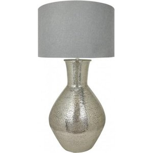 Cimc Nickel Olpe Floor Lamp With A 24 Inch Grey Linen Drum Shade Eu Bt606 L0 Drm Gy