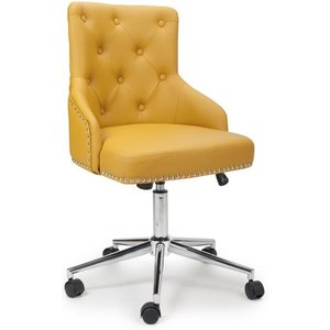 Shankar Rocco Leather Effect Yellow Office Chair 096 14 03 10 01