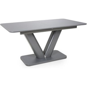 Shankar Venus Extra Large Extendable Grey Tempered Glass Dining Table 933 39 01