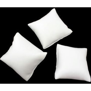 Jewellerymaker White Leatherette Display Cushions Approx 7x7mm (3pk) Eppo34, White