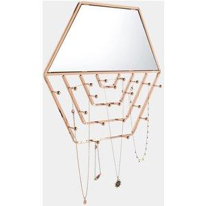 Beautify Hexagon Wall Mirror & Jewellery Hanger 4000126