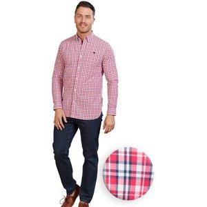 Raging Bull Big & Tall Long Sleeve Multi Check Shirt - Vivid Pink - Vivid Pink, 3xl A19cs276/88/120, Vivid Pink