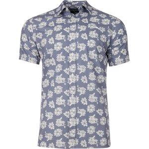 Raging Bull Big & Tall Short Sleeve Floral Shirt - Chambray - Chambray, 4xl S20cs15/254/121 , Chambray