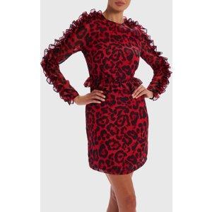 Forever Unique Red And Black Leopard Print Dress - 8, Multi Wf5210, Multi