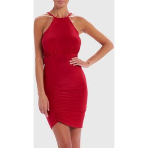 Forever Unique Red Slinky Mini Bodycon Dress - 12, Red Wf0802, Red