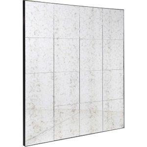 Antiqued Squares Wall Mirror Cwf1003