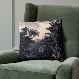 Black And White Jungle Cushion Hdl5369