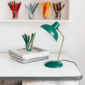 Dark Green Hood Desk Lamp Pdn1001