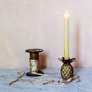 Gold Pineapple Candle Holder Lek1000