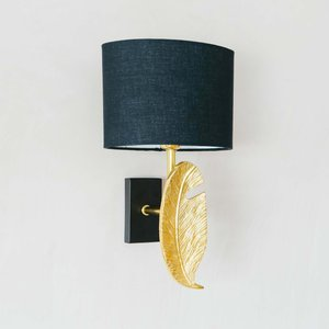 Gold Quill Wall Light With Shade Ize1001