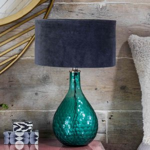 Hammered Green Glass Table Lamp Sbt5092