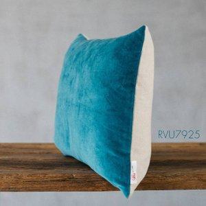 Light Blue Velvet Rectangular Cushion Rvu7925
