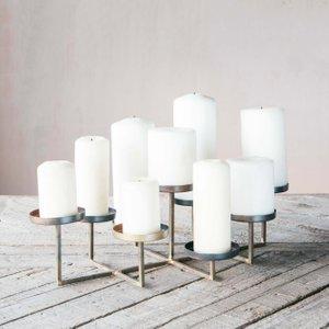 Milan Circle Multi Pillar Candle Holder Sir1003