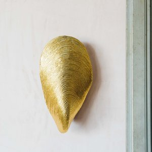 Mytilus Gold Wall Light Icm1002