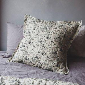 Small Square Chinese Palm Print Cushion Mkc1002