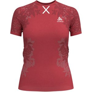 Odlo Ceramicool Blackcomb Pro Bl Top Crew Neck T-shirt Women Red 312581 30532 Fitness, red