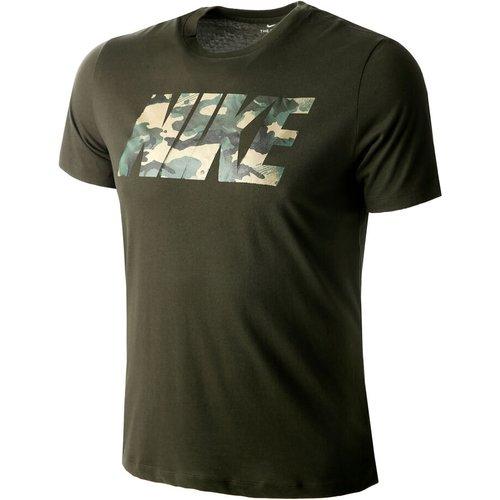 Nike Dry Camo Tee Men T-shirt Men Khaki Cu8521 355 Fitness, khaki