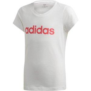 Adidas Essentials Linear T-shirt Women White Cf1629 Fitness, white