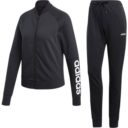 Adidas New Cotton Marker Tracksuit Women Black Dv2434 Fitness