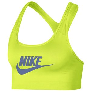 Nike Swoosh Futura Sports Bras Women Lemon 899370 389 Fitness, lemon