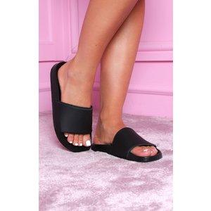 Femmeluxe Black Matte Slides - Hadlee Uk 3 / Us 5 / Eu 36 3blksla1556 Womens Footwear, black