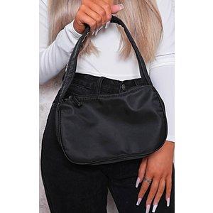 Femmeluxe Black Nylon 90's Shoulder Bag - Samantha Osblkaca017 Womens Clothing, black