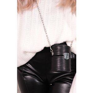 Femmeluxe Black Textured Cylindrical Shoulder Bag - Freya Osblkac9761 Womens Clothing, black