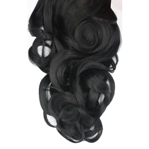 Femmeluxe Jet Black 20 Synthetic Curly Hair Extensions Clip In Piece - Dion Osblkaca093 Womens Clothing, black
