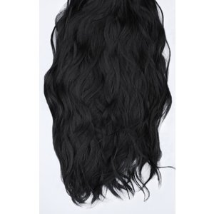 Femmeluxe Natural Black Thick 20 Synthetic Clip In Wavy Hair Extensions Set - Loren Blkacc7350 Womens Clothing, black