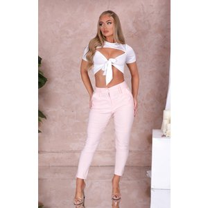 Femme Luxe Pink High Waisted Tailored Suit Trousers - Jade 8 8pnktra2928 Womens Clothing, pink
