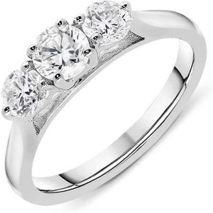C W Sellors Diamond Jewellery 18ct White Gold 0.80ct Diamond Trilogy Ring