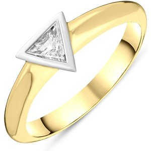C W Sellors Diamond Jewellery 18ct Yellow Gold Diamond Triangle Ring