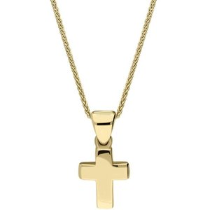 C W Sellors 9ct Yellow Gold Plain Cross Necklace