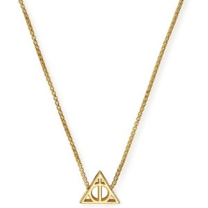 Alex And Ani Harry Potter Deathly Hallows 14ct Gold Necklace , Gold