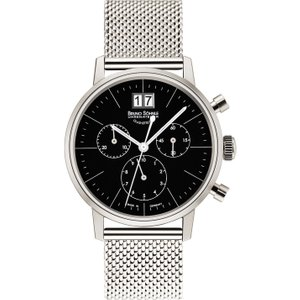 Bruno Sohnle Watch Stuttgart Chronograph Small Black , Black
