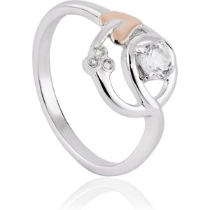 Clogau Tree Of Life Sterling Silver White Topaz Origin Ring