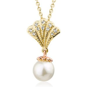 Clogau Windsor 9ct Gold White Topaz Pearl Necklace , Gold