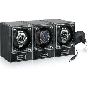 Designhuette Watch Winder Piccolo Starter Kit 3 Dark Ebony Black , Black