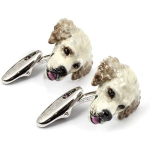 Dog Fever Sterling Silver Enamelled Golden Retriever Muzzle Cufflinks